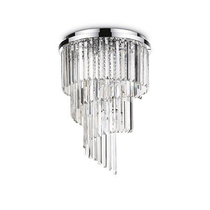Carlton lampa sufitowa plafon 12x40W E14 230V transparentny