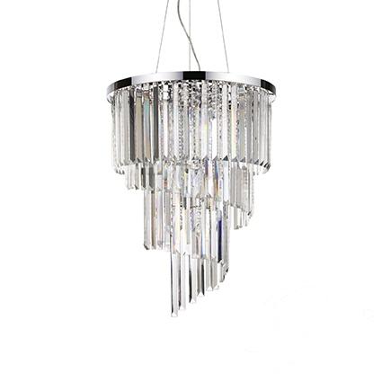 Carlton lampa wisząca 12x40W E14 230V transparentna