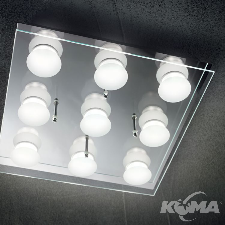 pl9 plafon chrom Ikes IDEAL LUX