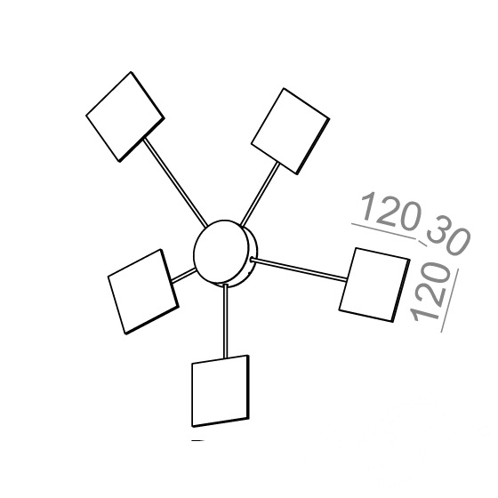 point square komplet oprawy ściennej biały struktura Maxi AQFORM