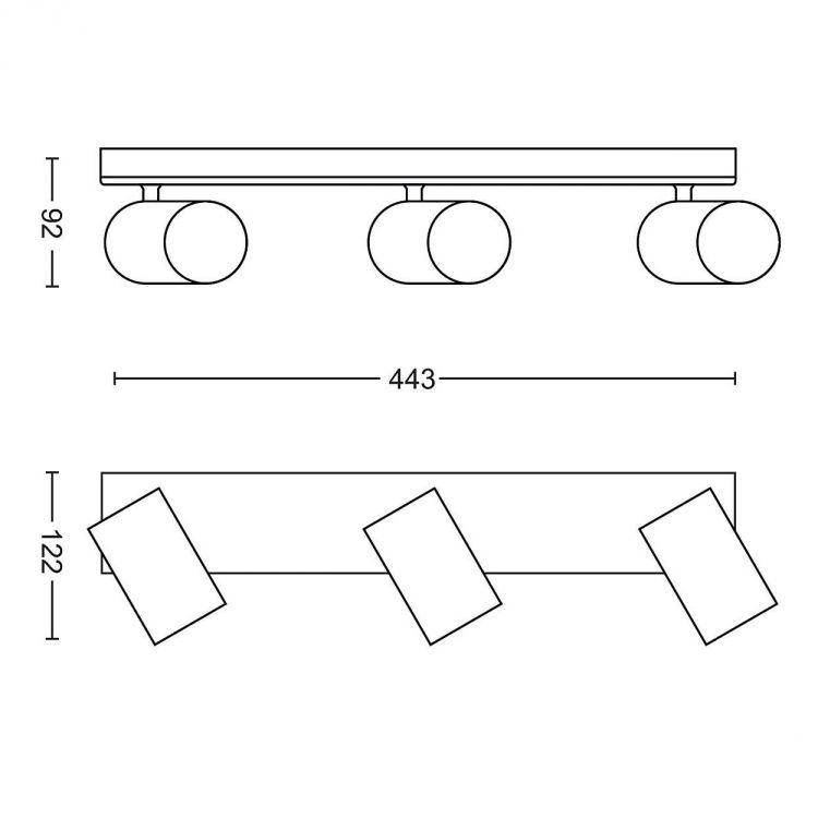 Kosipo listwa sufitowa-reflektor 3x10W GU10 230V czarny