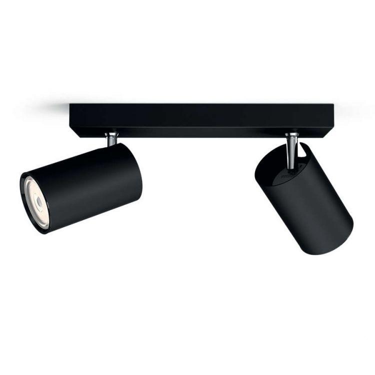 Kosipo listwa sufitowa-reflektor 2x10W GU10 230V czarny