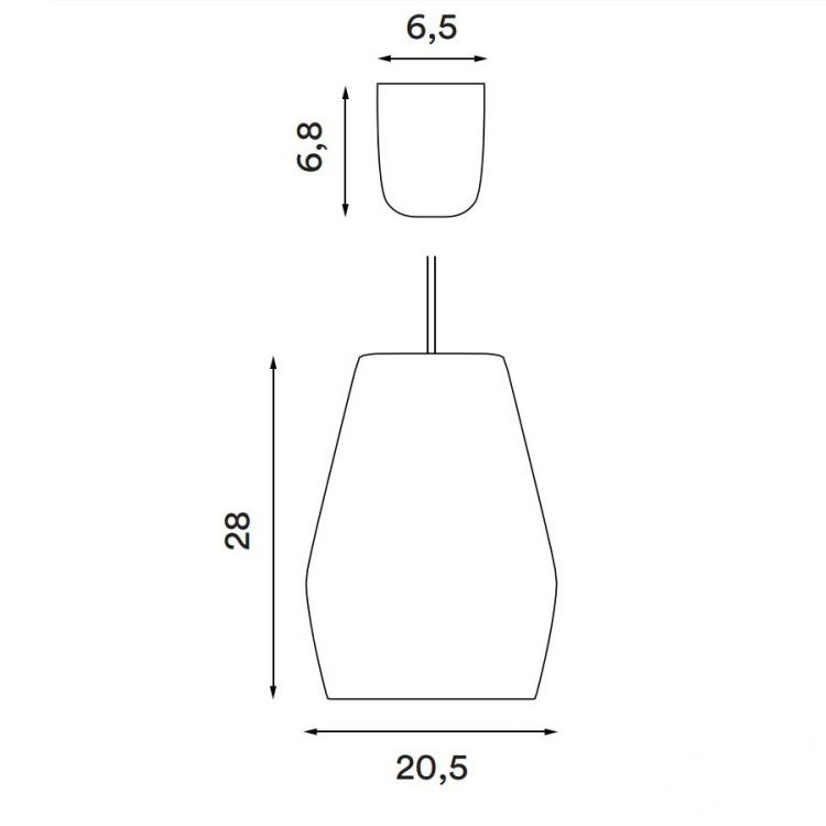 Bell lampa wisząca 1x60W E27 230V jasnoszara