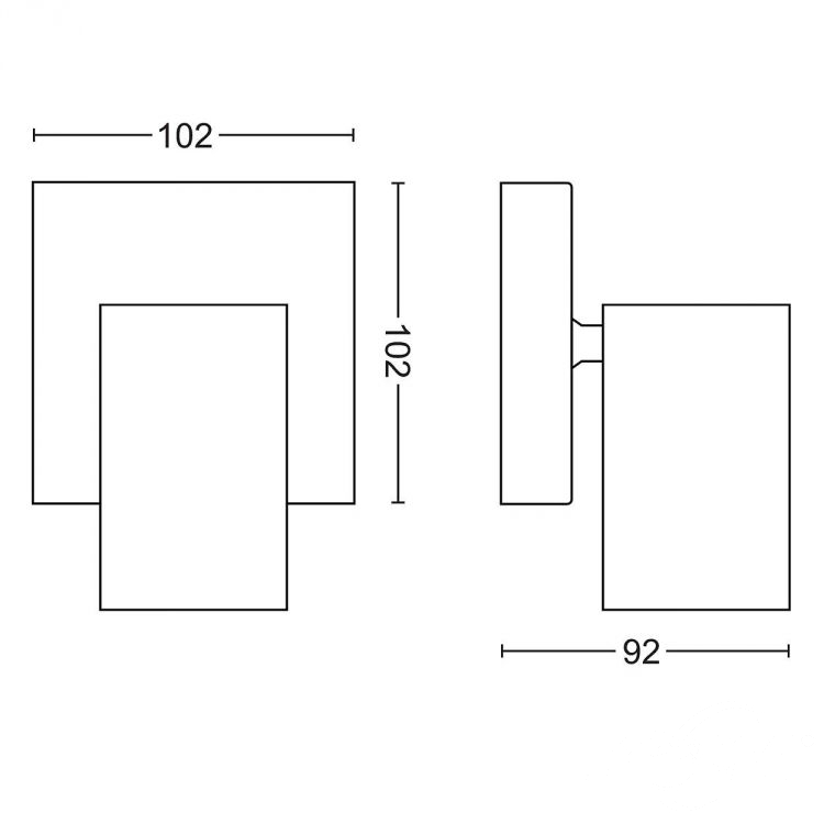 Kosipo kinkiet-reflektor 1x10W GU10 230V czarny