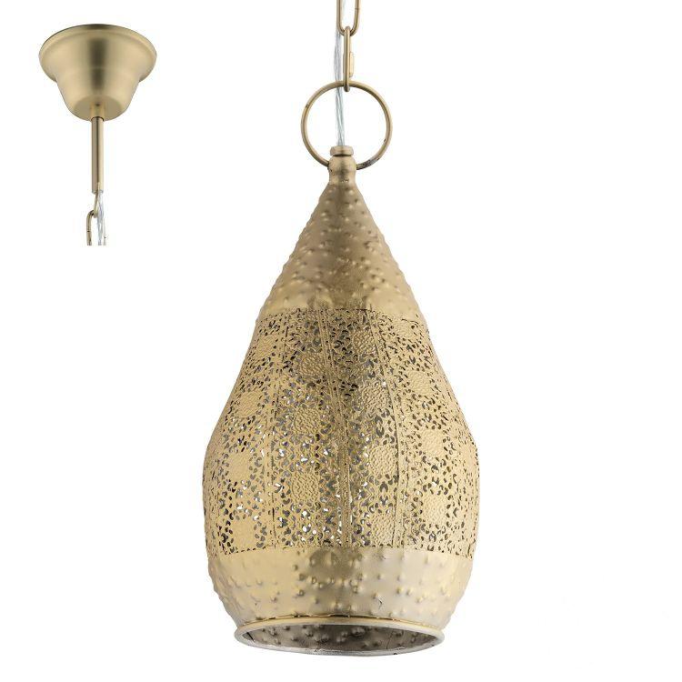 Melilla lampa wisząca 1x60W E27 230V złota
