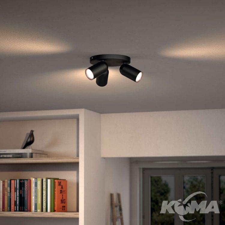 Pongee plafon-reflektor 3x10W GU10 230V czarny