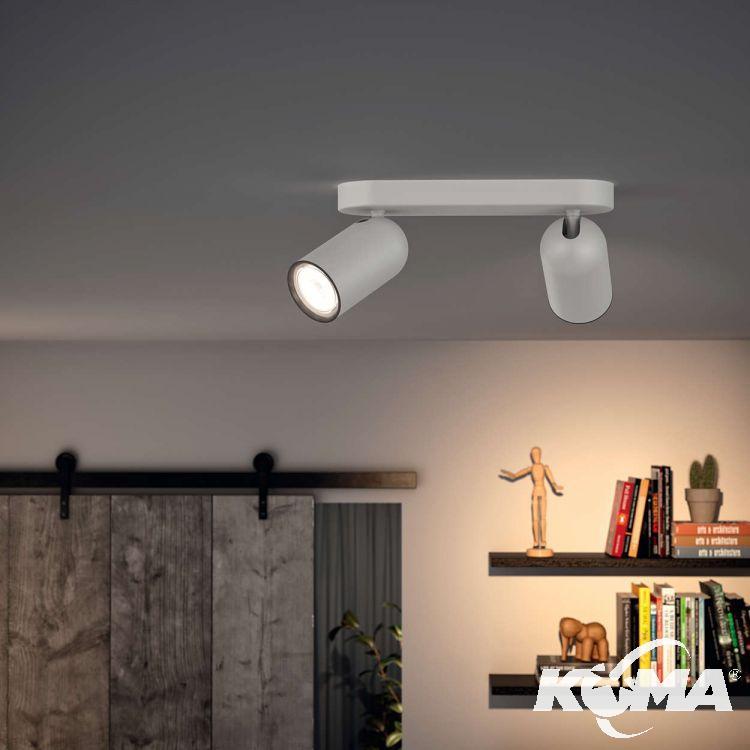 Pongee listwa sufitowa-reflektor 2x10W GU10 230V biały