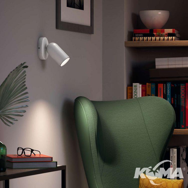 Pongee kinkiet-reflektor 1x10W GU10 230V biały