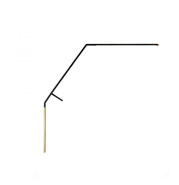 lampa stołowa czarna/mosiężna BIRD NEMO
