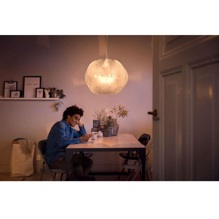 Roseval lampa wisząca 1x60W E27 230V transparentna