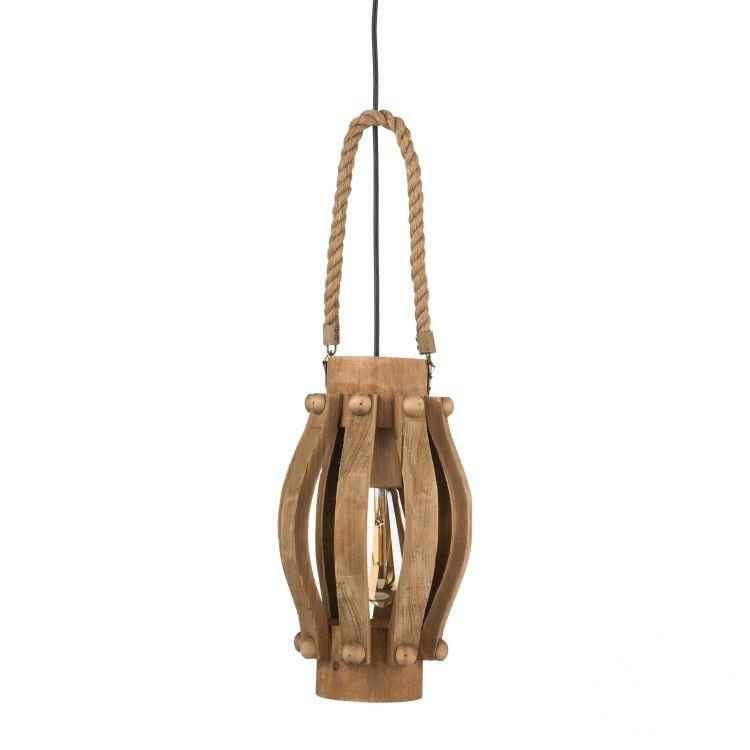 Kinross lampa wisząca 1x60W E27 230V brązowa