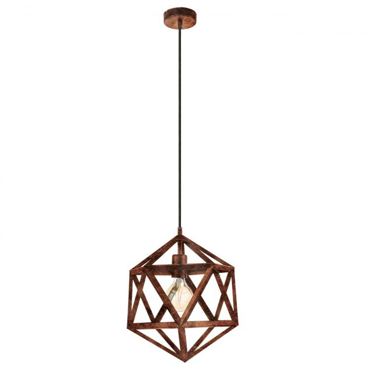 Embleton lampa wisząca 1x60W E27 230V miedziana