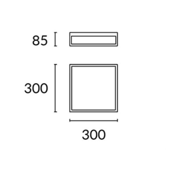 Flow plafon łazienkowy 30cm. 3x18W E27 230V chrom