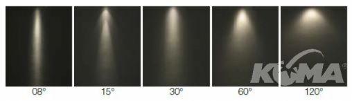 Rakel 1 led 630 ma 2W power IP40 8st czarna, biala ciepla
