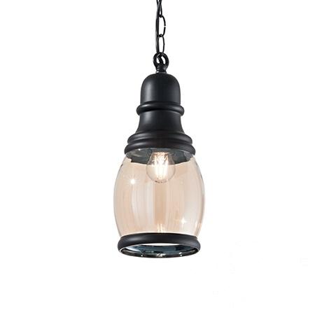 Hansel Oval lampa wisząca 1x60W E27 230V czarna