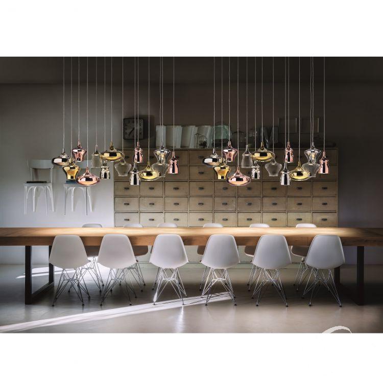 Nostalgia Medium lampa wisząca 9W LED 2700K 230V różowo złota-chrom