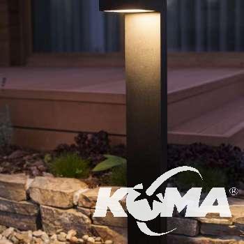 Asker lampa stojąca zewnętrzna 11,3W LED 230V czarna