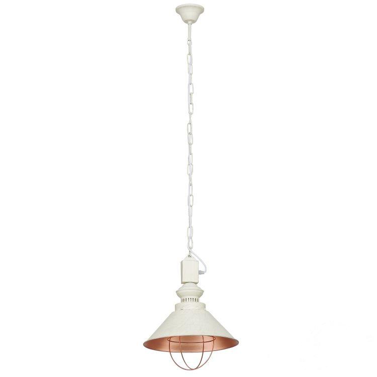 Loft Antique lampa wisząca 1x60W E27 230V ecru
