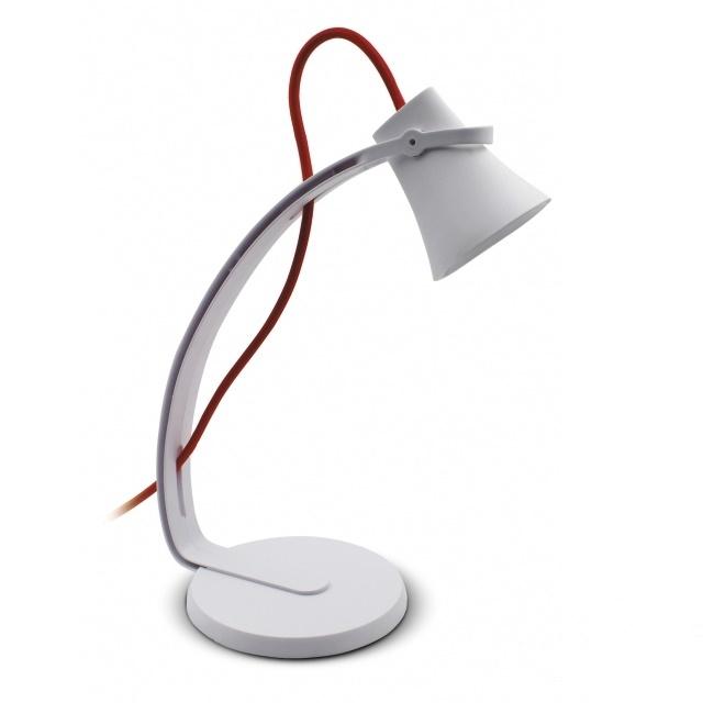 Skara lampa biurkowa biało-czerwona 3.2W LED