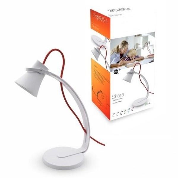 lampa biurkowa biało-czerwona Skara NILSEN