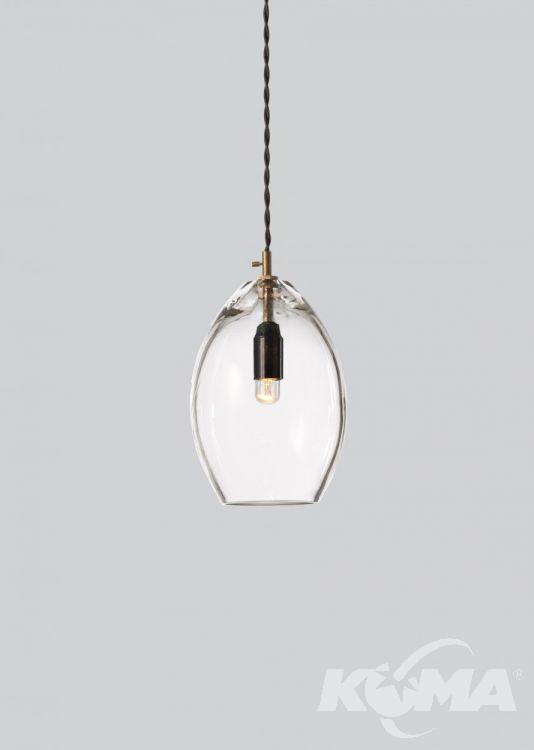 Unika lampy wisząca 1x60W E14 14cm transparentny