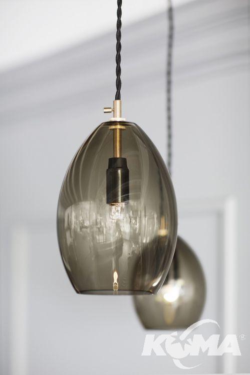 Unika lampy wisząca 1x60W E14 14cm dymny