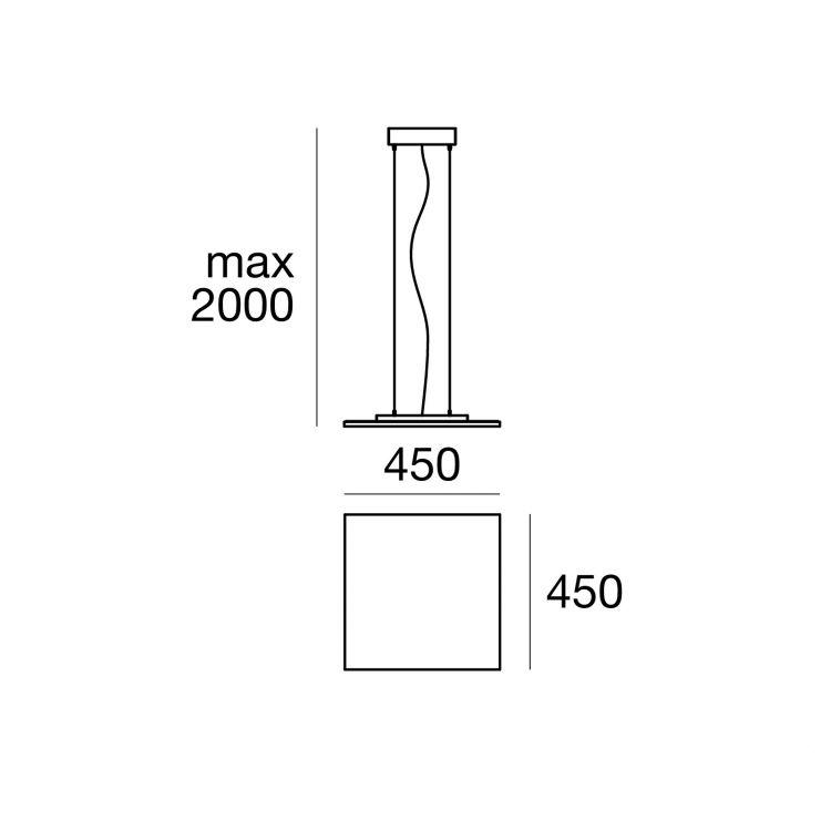 Dublight lampa wisząca 23W LED 3000K 230V biała