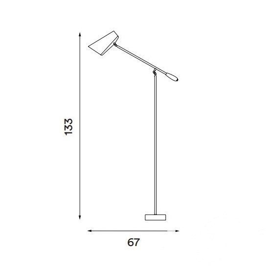 Birdy lampa podłogowa 1x60W E27 230V biało-srebrna