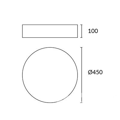 plafon Bol LEDS C4