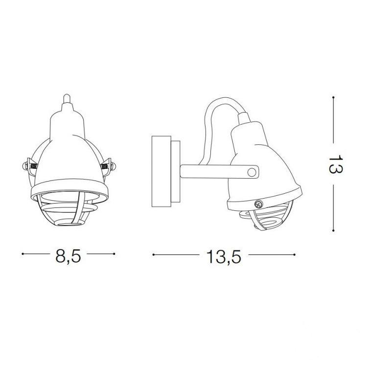 Mini kinkiet reflektor Bob IDEAL LUX