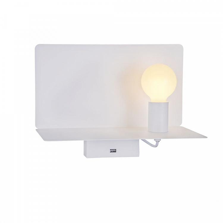 Ios kinkiet/reflektor 6W+3W LED 3000K 230V biały