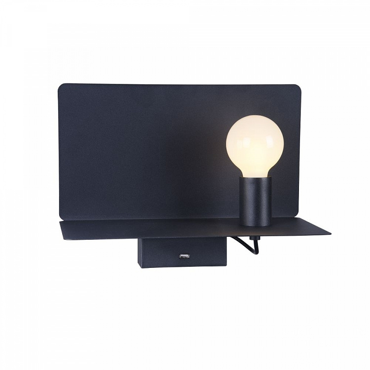 Ios kinkiet/reflektor 6W+3W LED 3000K 230V czarny