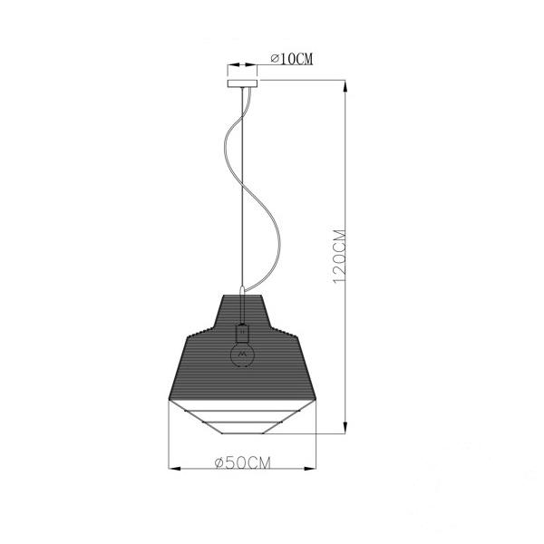 Wire lampa wisząca 1x60W E27 230V srebrna