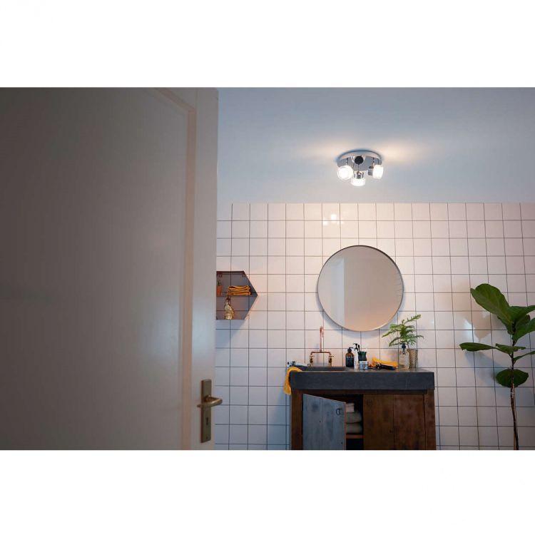 Resort Lampa Sufitowa łazienkowa 3x45w Led 230v Chrom