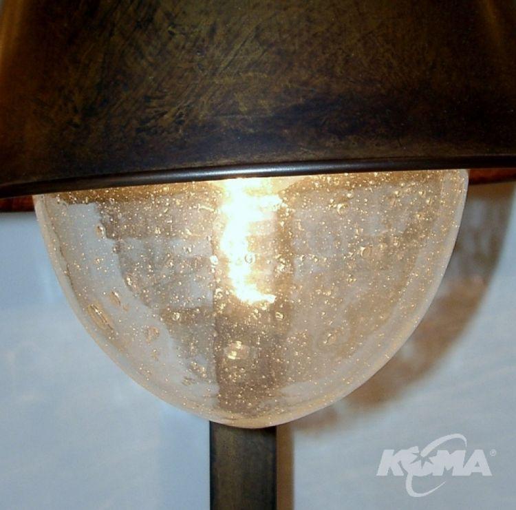 Amarras lampa stołowa 1x42W E27 ziemisty brąz/szkło bąbelkowe