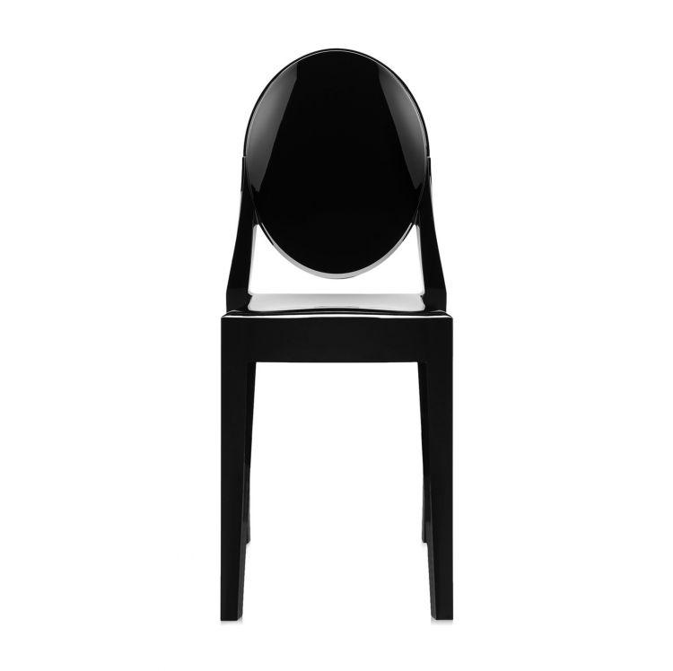 Victoria Ghost krzesło 38x89x52cm czarne lśniące