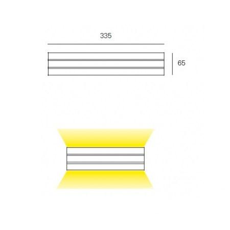 Paral-Lel kinkiet 3x75W G9 230V aluminium