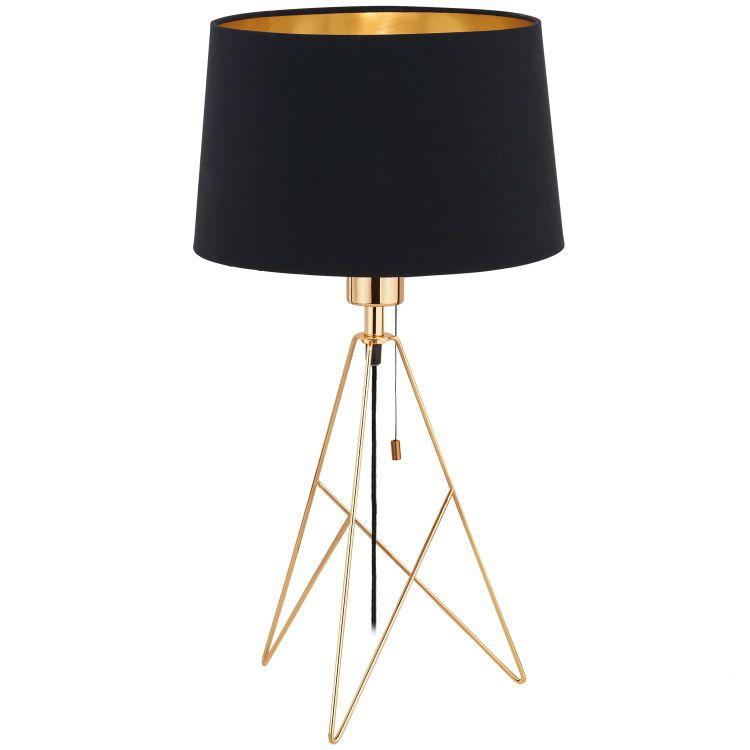 Camporale Lampa Stolowa 1x60w E27 230v Czarna Zlota Mosiadz Indeks