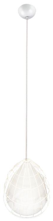 Frame l lampa wisząca 1x60W E27 37.5cm biały/biały/biały
