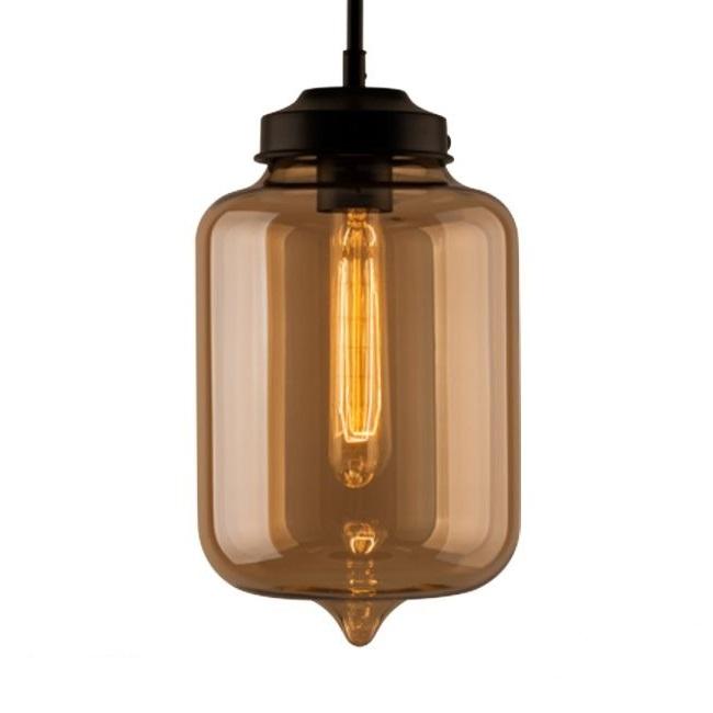 London lampa wisząca 1x40W E27 230V bursztynowa
