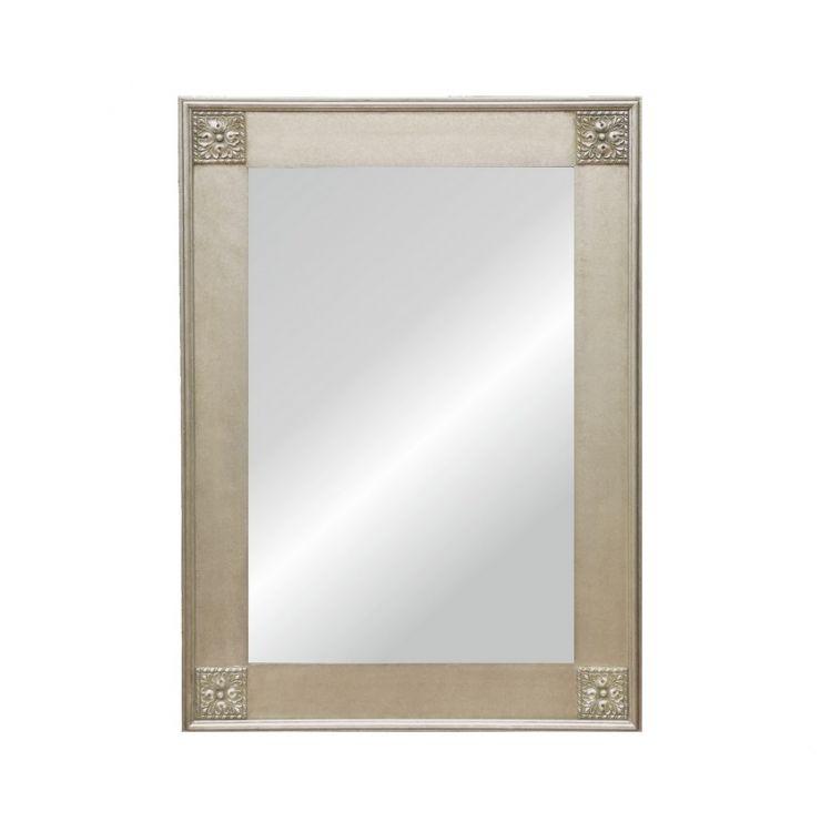 Alexandra silver lustro 60x120 z rama 84x145