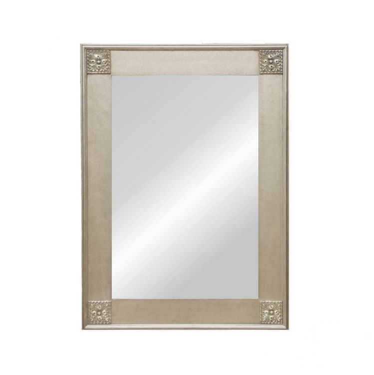Alexandra silver lustro 50x150 z rama 75x175