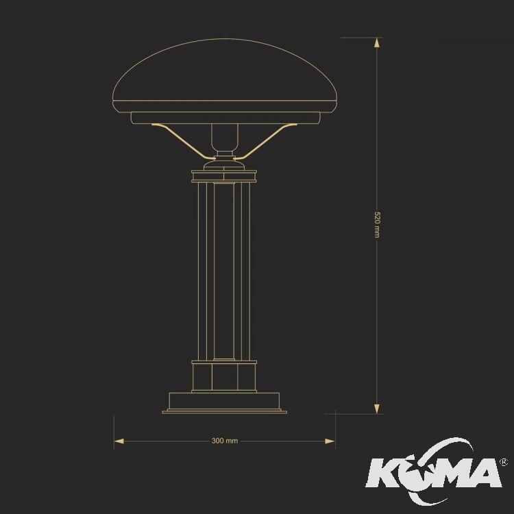 lampa stołowa patyna Decor KUTEK