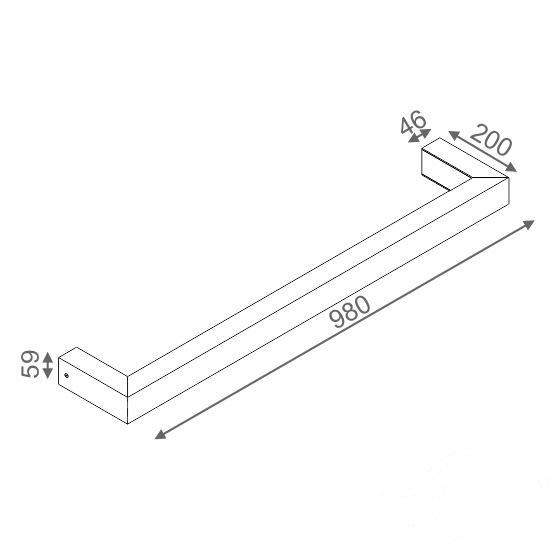 Baset kinkiet biały (mat) 1x21W G5 230V