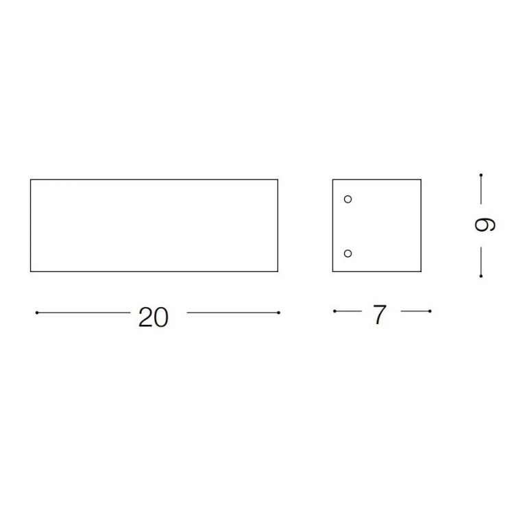 Flash kinkiet 2x40W G9 230V rdzawy