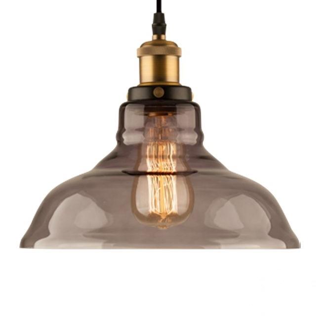 New York 3 lampa wisząca 1x40W E27 230V mosiądz/przydymiona