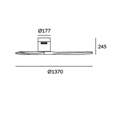 wentylator sufitowy drewniany Stem LEDS C4