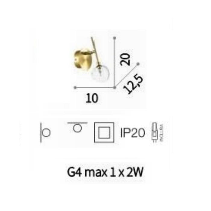 ap1 kinkiet złoty Maracas IDEAL LUX