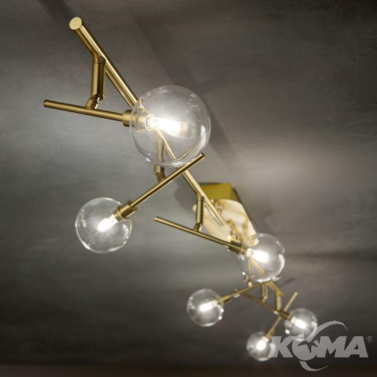 pl6 plafon złoty Maracas IDEAL LUX