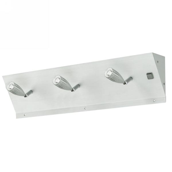 Tricala oprawa podszafkowa 60cm 3x1W LED 230V aluminium